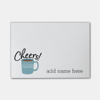 Funny Coffee Drinker - Cheers It s 8am Somewhere Post-it® Notes