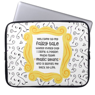 Funny coffee gift magic bean potion fairy tale laptop sleeve