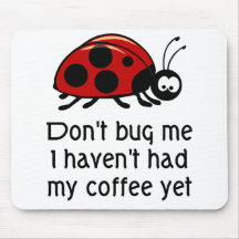 Funny Coffee Lover Mouse Pad with Ladybug