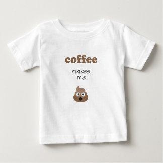 Funny coffee makes me poop emoji phrase baby T-Shirt