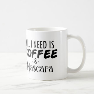 Funny Coffee & Mascara Coffee Mug