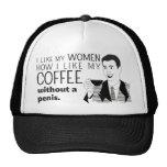 Funny Coffee Mug Joke for Mature Dads Men Boys Mesh Hats