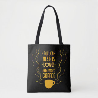 Funny Coffee Quote Caffeine Lover Addiction Quote Tote Bag