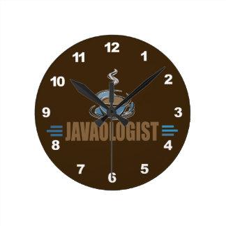 Funny Coffee Round Clock