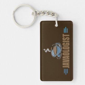 Funny Coffee Single-Sided Rectangular Acrylic Key Ring