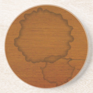 Funny coffee stain coaster