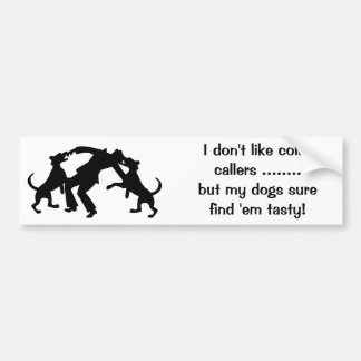 Funny Cold-Callers Door Sticker Bumper Sticker