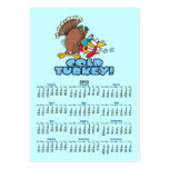 funny cold turkey cartoon large business cards (Pack of 100)