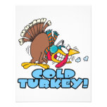 funny cold turkey cartoon custom invitation