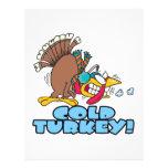 funny cold turkey cartoon flyer design