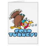funny cold turkey cartoon greeting card