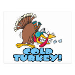 funny cold turkey cartoon postcard