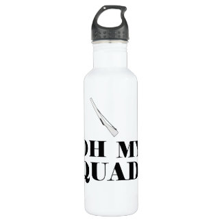 Funny Color Guard Oh My Quad! Rifle Water Bottle 710 Ml Water Bottle