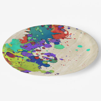 FUNNY COLOR SPLASH I + your ideas Paper Plate