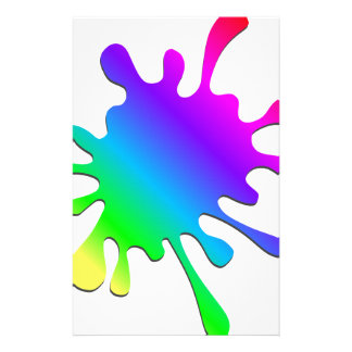 Funny Colorful Art Rainbow Paint Splatter Personalised Stationery