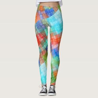 Funny Colorful Check Leggings