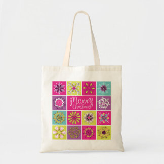 Funny Colorful Christmas Pattern Tote Bag