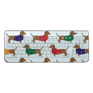 Funny Colorful Dachshund Dogs Wireless Keyboard