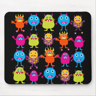 Funny Colorful Monster Party Creatures Characters Mouse Mat
