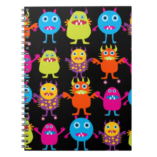 Funny Colorful Monster Party Creatures Characters Notebook