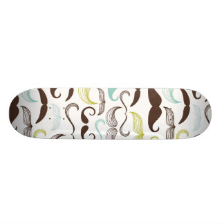 Funny Colorful Pattern for Mustache Lovers Skateboards