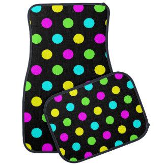 Funny Colorful Polka Dots Pattern - Car Mats