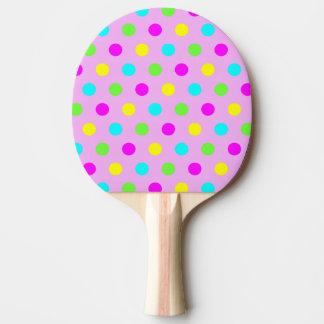 Funny Colorful Polka Dots - Ping Pong Paddle