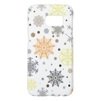Funny Colorful Snowflakes Pattern