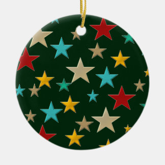 Funny, colorful stars christmas ornament