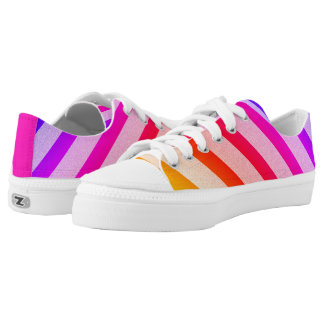 Funny Colorful Stripes Pattern Low Tops