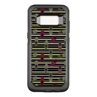 Funny Colorful Tropical Pineapple Pattern OtterBox Commuter Samsung Galaxy S8 Case