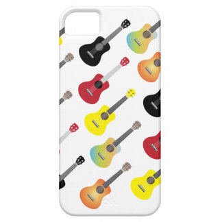 Funny Colorful Ukulele Patterns iPhone 5 Case