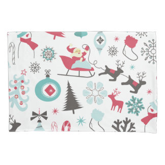 Funny Colourful Christmassy Pattern Pillowcase
