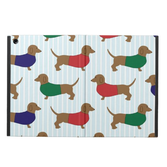 Funny Colourful Dachshund Dogs, iPad Air Case