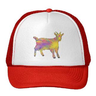 Funny Colourful Flaming Art Goat Design Cap
