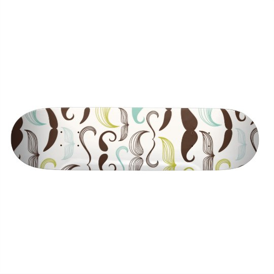 Funny Colourful Pattern for Moustache Lovers Skateboards
