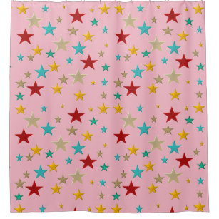 Funny Colourful Stars Shower Curtain