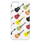Funny Colourful Ukulele Patterns iPhone 5 Case