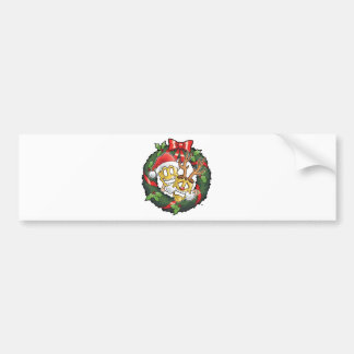 Funny Comedy Tragedy Christmas Masks Bumper Sticker