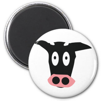 funny comic cow head magnets