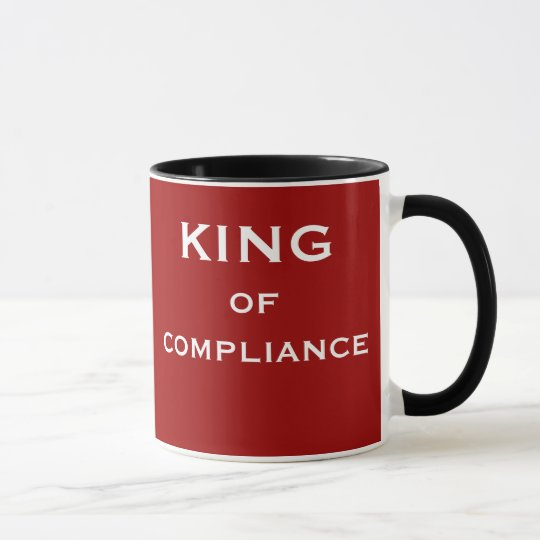 Funny Compliance Job Title and Boss Name Mug