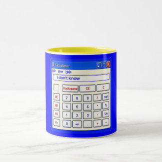 FUNNY COMPUTER CALCULATOR Two-Tone COFFEE MUG