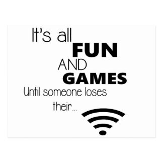 Funny Computer / Internet Quote Postcard