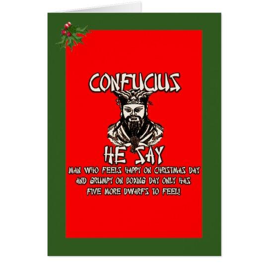 Funny Confucius Christmas Card