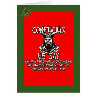 Funny Confucius Christmas Greeting Card