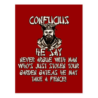 Funny Confucius he say Postcard