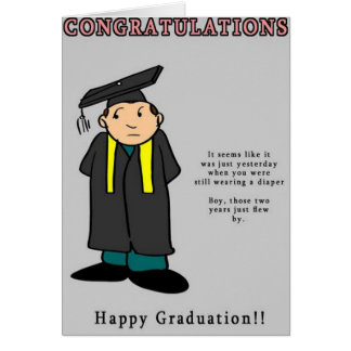 Funny Congratulations Card: Graduation Card