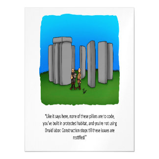 Funny Construction Humor Magnetic Card Magnetic Invitations