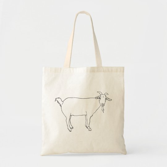 Funny Content Goat Line Drawing Animal Art Design
