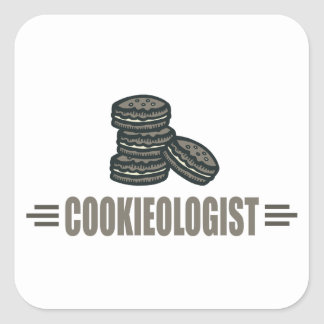 Funny Cookies Square Stickers
